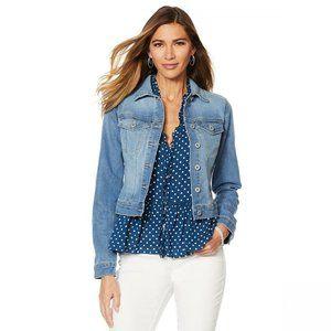 NWT Jessica Simpson Pixie Denim Jacket 2X Blue